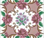 Подушка с орнаментом и цветами