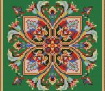 Восточный орнамент для подушки крестиком