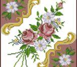 Подушка орнамент и цветы