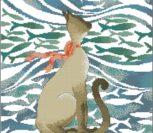 Кошка с рыбками (подушка)