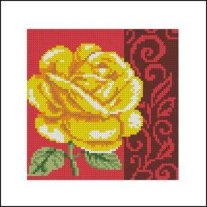Роза с узором