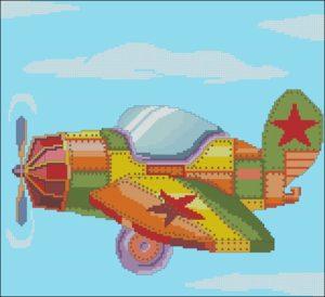 Мультяшный военный самолет