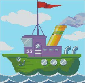 Мультяшный кораблик