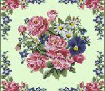 Красивая цветастая подушка