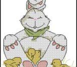 Белый пасхальный кролик 2