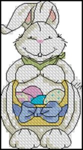 Белый пасхальный кролик 3