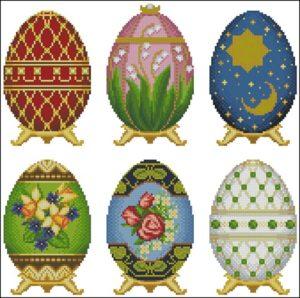 Яйца пасхальные, разные