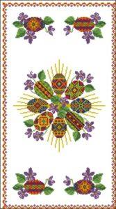Схема для вышивки дорожки к Пасхе