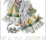 Свадебный рушник с голубями и колокольчиками