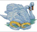 Лебеди и кольца для рушника