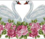 Свадебный рушник с лебедями