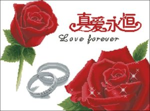 "Cross Stitch ""Love forever"""
