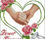 Свадебная метрика с руками и кольцами