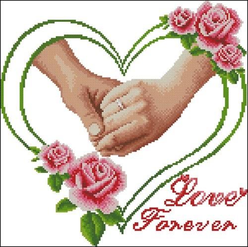 Свадебная метрика с руками и кольцами 2