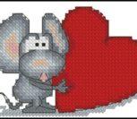 Мышонок и красное сердечко