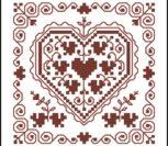 Сердце однотонное