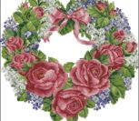 Roses And Lilac Wreath