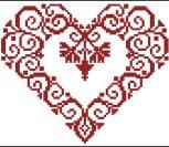 Сердце монохром