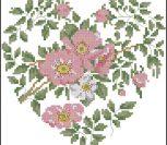 France Roses Heart