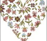 Цветочное пастельное сердце