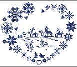 Сердце, зимний орнамент
