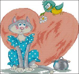 Влюбленная кошечка