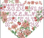 Mulberry Flower Heart