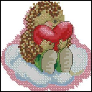 Ёжик с сердечком