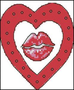 Сердечко с губами