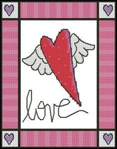 Сердечко с крылышками