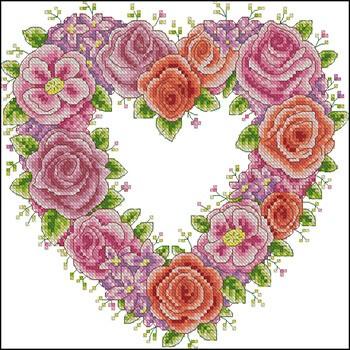 бесплатные схемы вышивки валентинок
