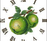 """Часы """"Зеленые яблоки"""""""