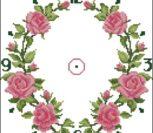Часы своими руками с розами