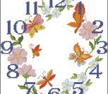 Часы, цветы, бабочки