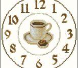 Часы с кружкой кофе