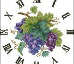 Часы с виноградом