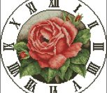 Clock Red Rose