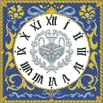 бесплатные схемы вышивки часов
