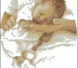 Спящий на руках младенец