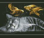Счастливый сон (золотые рыбки)
