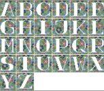 Цветочный алфавит (зеленый)