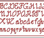 Alphabet for Gift Tags