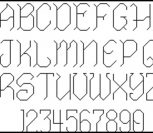Алфавит (английские заглавные и цифры)