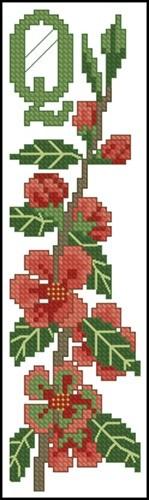 Bookmark - Quince Blossom