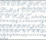 Красивый прописной почерк алфавит (abc)