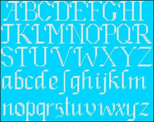 Алфавит на голубом фоне