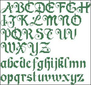 Красивый готический шрифт ABC