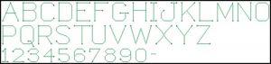 Modern ABC font