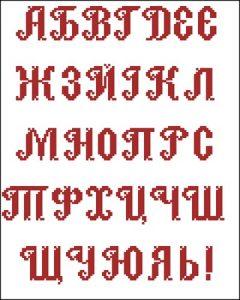 Заглавные буквы русского алфавита