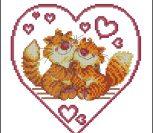 Котики в сердечке